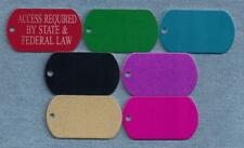 ACCESS REQUIRED - service dog vest tags, collar, harness tags -- laser engraved