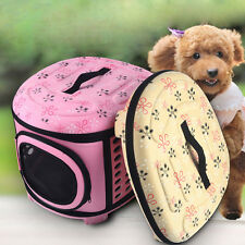 Pet Dog Cat Portable Tote Sided Carrier Bag Travel Foldable Cage Kennel Comfy