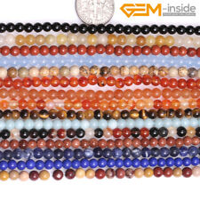 """6mm Natural Assorted Gemstone Round Stone Beads For Jewellery Making Strand 15"""""""