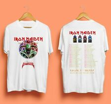NEW IRON MAIDEN LEGACY OF THE BEAST Tour 2018 T-Shirt Men's White Size S-2XL