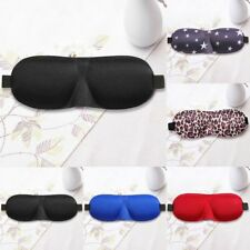 Soft 3D Eye Aid Mask Travel Sleep Rest Eye Shade Cover Shade Blindfold Unisex LU