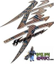 Snakeskin Printed Kanji Decals fits Second Gen Hayabusa 2008-Newer Busa Graphics