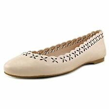 MICHAEL Michael Kors Womens Thalia Leather Round Toe Ballet Flats
