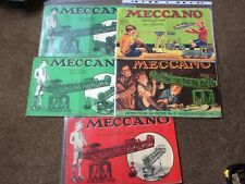 5 x Vintage Meccano instructions for No1,2,3,5&5a outfits