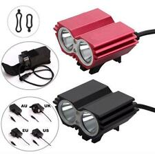 LED Bicycle Headlamp Cycling Light Headlight Front Light Flashlight With Battery