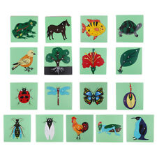 Montessori Wooden Animal Jigsaw Puzzle Panel Toy Toddler Baby Early Educational