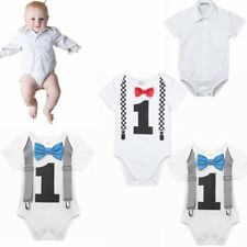 Infant Toddler Baby Boy Number ONE Romper Bodysuit Jumpsuit Clothes Outfits