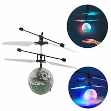 Flash Flying Ball Infrared Induction LED Disco RC Helicopter kids Toy LOT QD