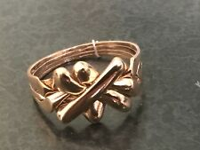 rose gold Plated Over Bronze 4  band KING  design UNISEX puzzle ring qty 1