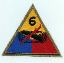 WW2 US 6th Armored Division patch