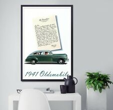 """Vintage 1941 Oldsmobile Ad POSTER! (24"""" x 36"""" or smaller) - High Quality - Cars"""