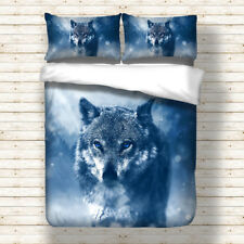 Wolf Duvet Cover Pillow Case Set Twin Full Queen King Bedding Animal Quilt Cover