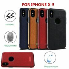 Ultra Thin Luxury Leather TPU Case Cover for iPhone X & 8/7/6s Plus & Samsung LU