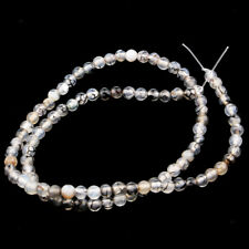 1 Strand Black White Dragon Stripe Agate Jewelry Making Round Loose Beads