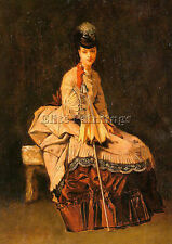 GOUPIL JULES ADOLPHE FRENCH 1839 1883 ARTIST PAINTING OIL CANVAS REPRO ART DECO