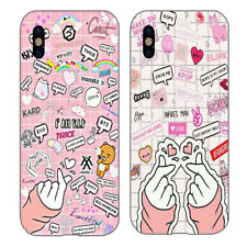 Love Gesture Kpop BTS Black Pink Fashion Print Phone Cases for Iphone Samsung