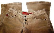 Women MUDD Corduroy Jeans Light Brown Flare Bootcut Denim -Tag Size 11 -CL5