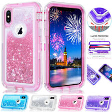 Glitter Heavy Duty Armor Case for iPhone XS Max 6.5/XR/X 6s 7 8 Plus Bling Cover