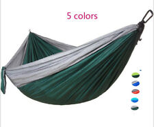 Double color stitching Double Parachute Outdoor Hammock For Hiking Beach Camping