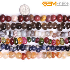 """6x8mm Natural Gemstone Freeform Chips Nugget Loose Beads Jewellery Making 15"""" CA"""