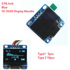 "5/10pcs 0.96"" Inch Blue I2C IIC Serial  OLED LCD LED Display Module for Arduino"
