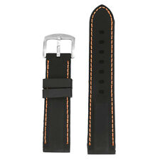 Soft Black Silicone Rubber Watch Strap Band Waterproof Band Belt for Samsung