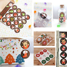 50 Sheets Xmas Christmas Envelope Seal Sticker Gift Label Stickers Cartoon Decor