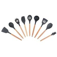 Camping Outdoor Kitchen Utensil Set Silicone Wood Cooking Tools Home BBQ Set