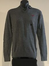 Abercrombie & Fitch Hollister Sweater Men's Soft V-Neck Icon Pullover S Grey NWT