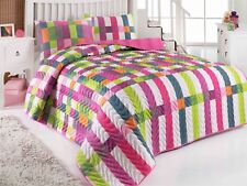 Patchwork Bedding Full/Queen&Twin Size Bedspread/Coverlet Set Colorful Themed