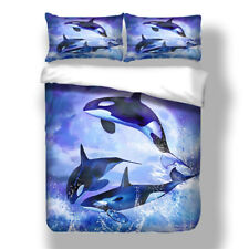 Dolphin Duvet Quilt Cover Set Pillow Case Twin Queen King Sea Animal Bedding New