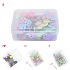 100X Patchwork Pins Flower Button Head Pins Quilting Tool Sewing Accessories  Hw