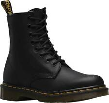 Mens Dr Martens 1460 8 Eye Black Greasy Smooth Leather Lace Up Boots New In Box