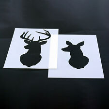 Stag Deer Head Stencil MYLAR Sheet 190 Micron Reusable Plastic Craft Stencil