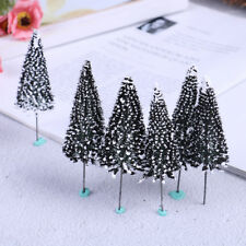 10PCS sand table Dark Green Landscape model cedar trees Scenery Landscape HOF8