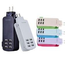 6usb port charger phone charging head travel fast charger for Apple Android