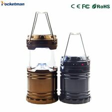 6 LEDs Solar Camping Light USB Rechargeable Hand Lamp Collapsible Tent Lantern