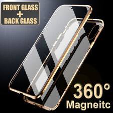 360° Magnetic Front+Back Tempered Glass Case Cover for iPhone 11 Pro Max X XR 8+