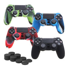 Camouflage Silicone Rubber Skin Grip Cover Case for PlayStation 4 Controller LY