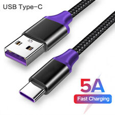 Braid 5A Fast Charging USB Type C Charger Cable for Samsung S10 Plus S10e S8 S9+