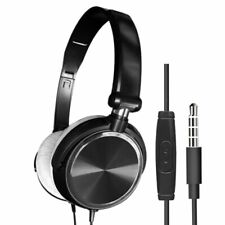 New Wired Headphones With Microphone Over Ear Headsets Bass HiFi Sound Music