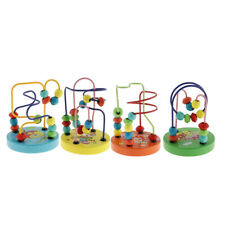 Children Kids Baby Colorful Wooden Around Beads Maze Puzzle Educational Game Toy