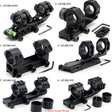 6 Style Scope Mount 25.4/30mm Dual Ring Cantilever Mount Fit 20mm Picatinny Rail