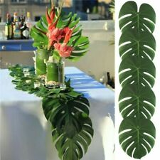 Artificial Tropical Palm Leaves for Hawaiian Luau Theme Party Decorations 12Pcs