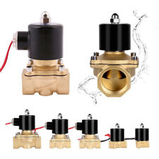 Electric Solenoid Valve Air Water Gas Oil Brass Normally Closed 12V 24V 240V