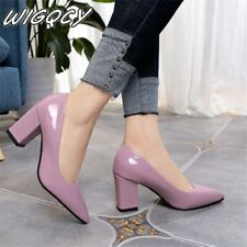 2019 Women's High Heels Sexy Bride Party mid Heel Pointed toe Shallow mouth