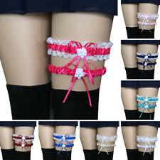 Qu_ 2Pcs/Set Women Bowknot Lace Garter Sexy Bridal Leg Garter Cosplay Decor Sera