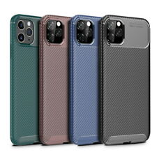 For iPhone 11 Pro Max XR XS Max 6 7 8 Plus Silicone Carbon Fiber Soft Case Cover