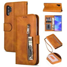 Leather Wallet Flip Card Pocket Case Zipper Cover For Samsung Note 10 Plus S10+