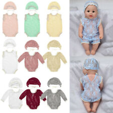 Newborn Baby Girls Infant Long Sleeves Romper Outfits with Hat Photography Props